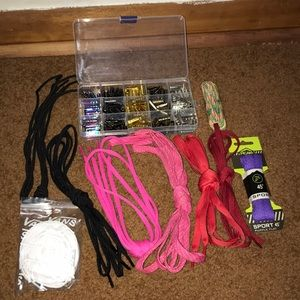 Various Shoelaces and Metal Aglets